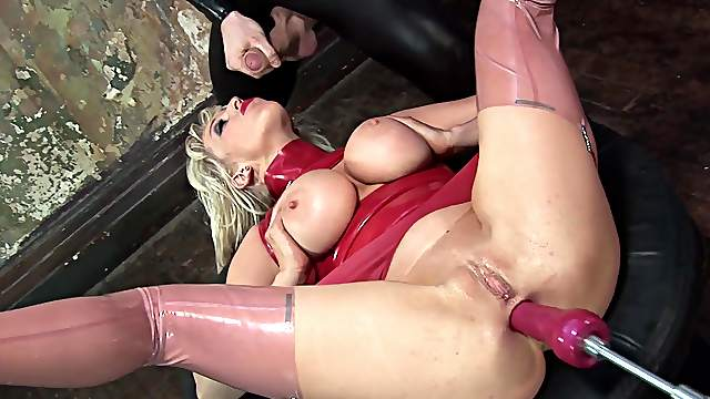 Anal hardcore with sperm flooding her face and tits