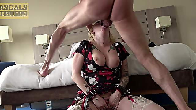 Stacked BBW Loula Lou gets her throat fucked and her ass jammed