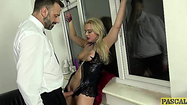 Severe sex for a thin wife in plain maledom home porn