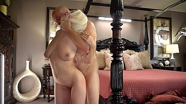 Sweet ass blonde shakes them huge tits in a wonderful hardcore XXX play