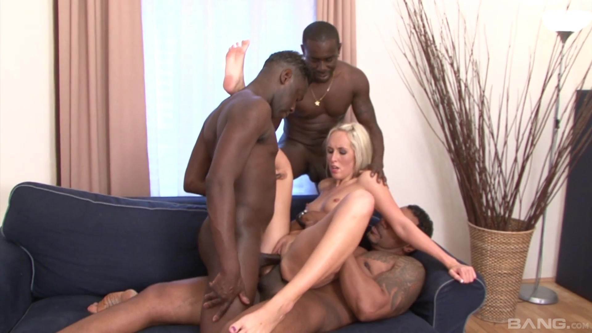 Married blonde fulfills her deep desires of fucking with black studs