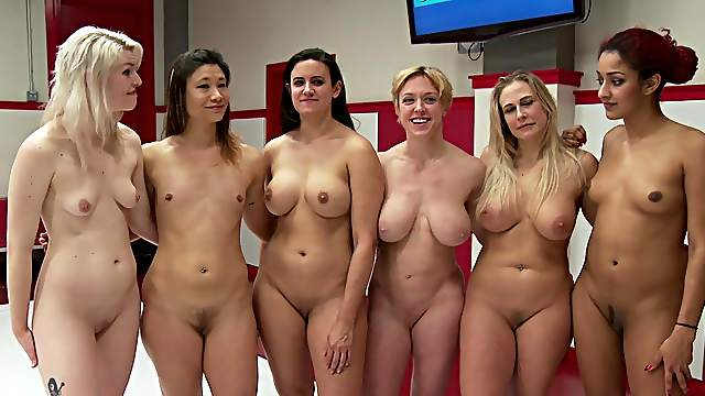 Nude women in a sexual cat fight contest for the wildest orgasms