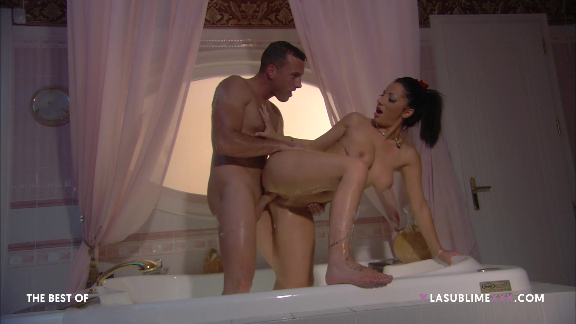 Man's powerful cock leads the busty woman to insane orgasms