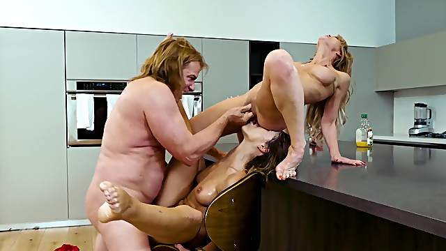 Adriana Chechik joins Cherie DeVille and Evan Stone for a kinky threesome