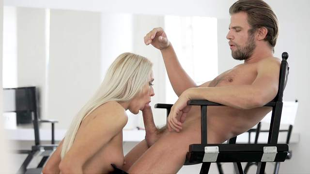 Deepthroat before sticking this young dong into her married cunt
