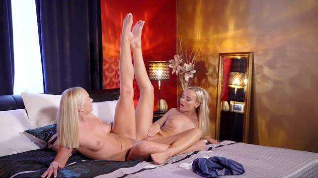Cristal Caitlin and another mouthwatering blonde make love