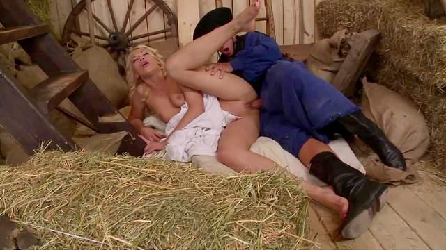 Blonde whore endures large dick in crazy XXX